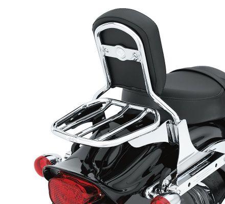 Custom Tapered Sport Luggage Rack- Chrome, Harley-Davidson® 53953-06
