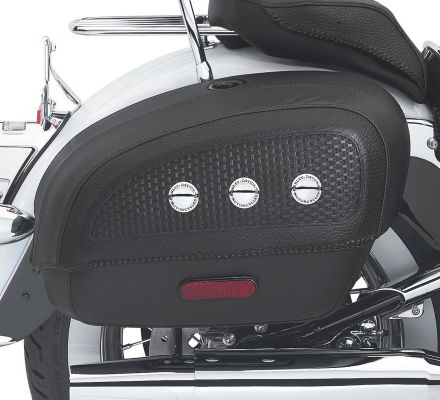 Harley-Davidson® Locking Rigid Saddlebags for Softail Deluxe Models 53015-05B