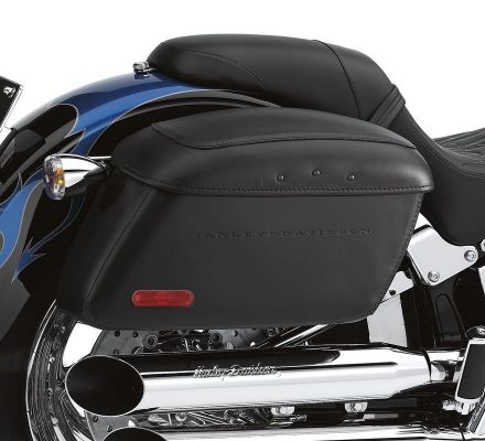 Locking Leather Covered Rigid Saddlebags for Softail Models, Harley-Davidson® 53061-00B