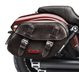 Distressed Leather Saddlebags
