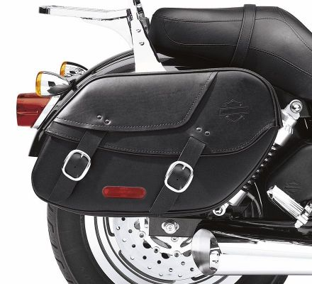 Bar & Shield Leather Saddlebag, Harley-Davidson® 90369-06D