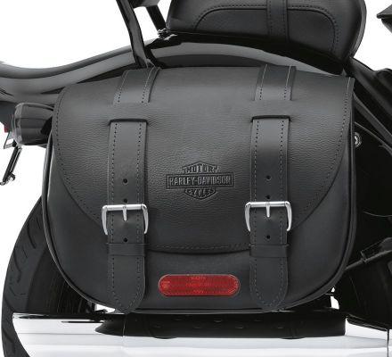 Harley-Davidson® Cross Bones Leather Saddlebags 90419-08