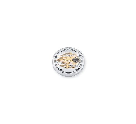 Harley-Davidson® Flames Gold & Chrome Timer Cover 32662-99A