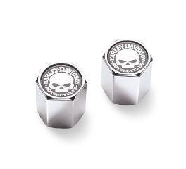 Willie G. Skull Chrome-Plated ABS Valve Stem Caps