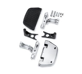 Chrome Softail Passenger Footboard and Mount Kit