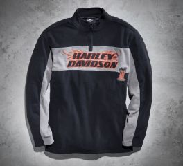 Men's 1/4-Zip H-D Flames Fleece