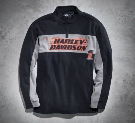 Harley-Davidson® Men's 1/4-Zip H-D Flames Fleece 99091-13VM