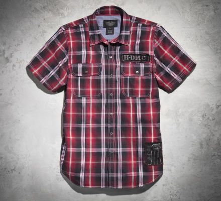 Men's Plaid to the Bone Slim-Fit Shirt, Harley-Davidson® 99098-13VM