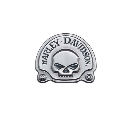 Harley-Davidson® Antique Nickel Skull Medallion 91720-02