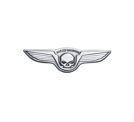 Harley-Davidson® Skull with Wings Antique Nickel Medallion 91732-02