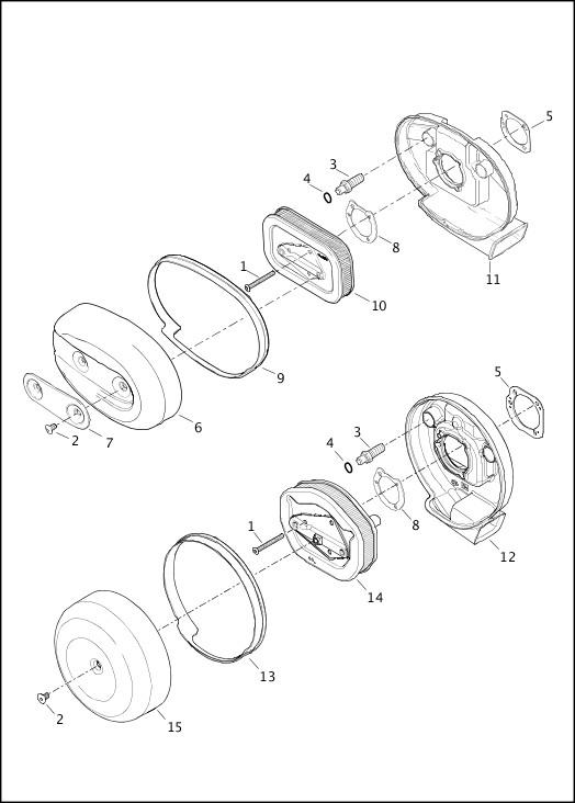 AIR CLEANER - 883L/N/R, 1200C/CA/CB/CP/V/X 2013 Sportster Models Parts Catalog