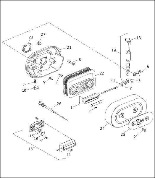 AIR CLEANER & ENRICHENER 1991-1992 XLH Models Parts Catalog