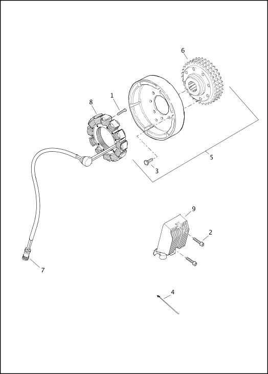 ALTERNATOR AND REGULATOR|2018 Sportster® Models Parts Catalog