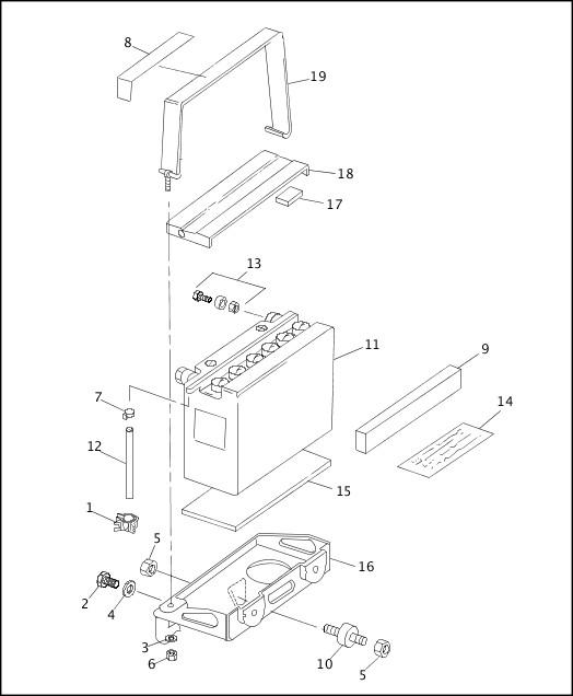 BATTERY|1991-1992 XLH Models Parts Catalog
