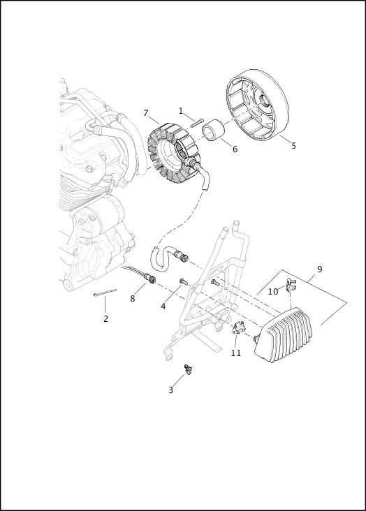 ALTERNATOR AND REGULATOR|2017 Touring Models Parts Catalog