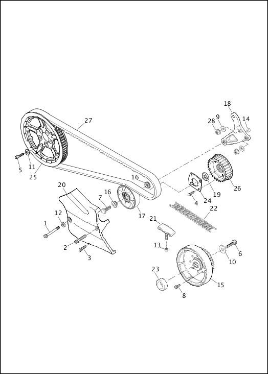 BELT & SPROCKETS - XR1200X|2013 Sportster Models Parts Catalog