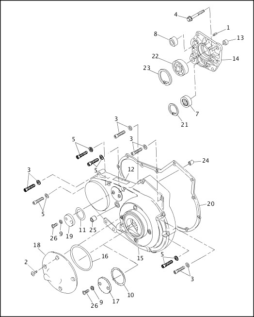 ACCESS DOOR & PRIMARY COVER|1993-1994 XLH Sportster Models Parts Catalog