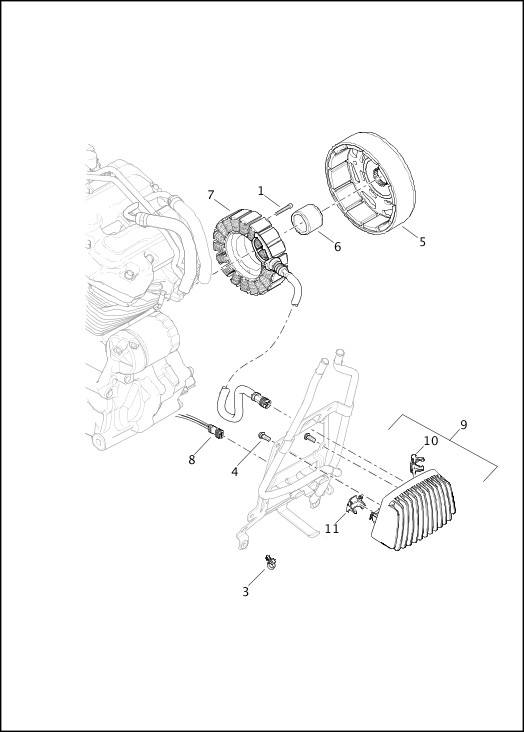ALTERNATOR AND REGULATOR|2019 FLHTKSE Model Parts Catalog