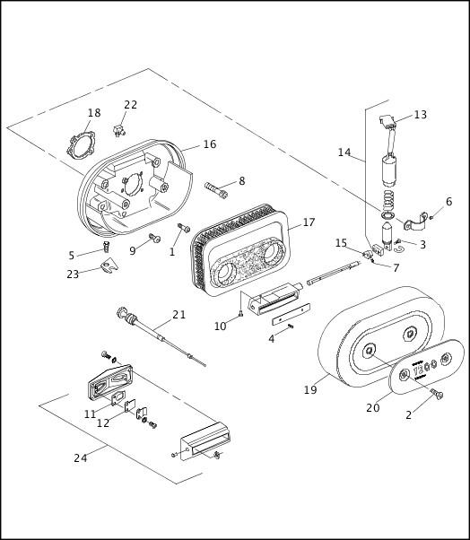 AIR CLEANER & ENRICHENER|1993-1994 XLH Sportster Models Parts Catalog