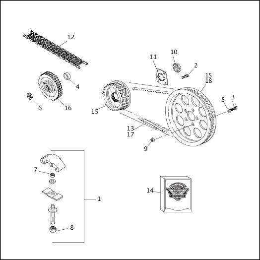 BELTS & SPROCKETS|1993-1994 XLH Sportster Models Parts Catalog