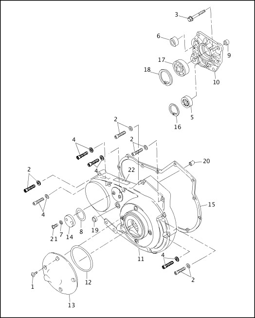 ACCESS DOOR & PRIMARY COVER|1997 Sportster Models Parts Catalog