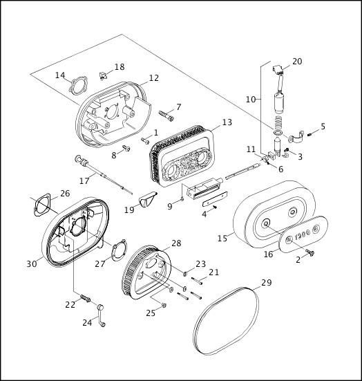 AIR CLEANER & ENRICHENER|1997 Sportster Models Parts Catalog