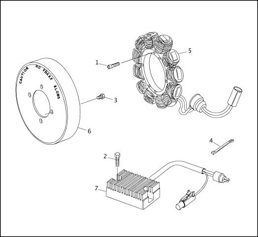 ALTERNATOR & REGULATOR|1995-1996 XLH Models Parts Catalog