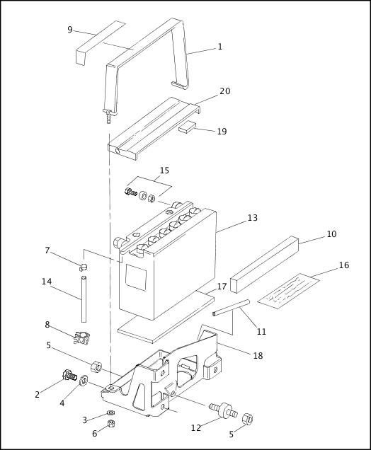 BATTERY|1993-1994 XLH Sportster Models Parts Catalog