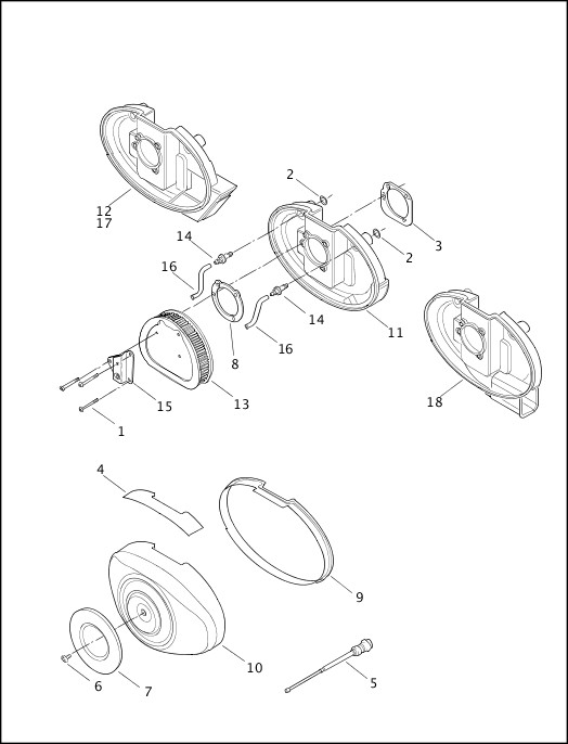 AIR CLEANER & ENRICHENER|2000 Softail Models Parts Catalog
