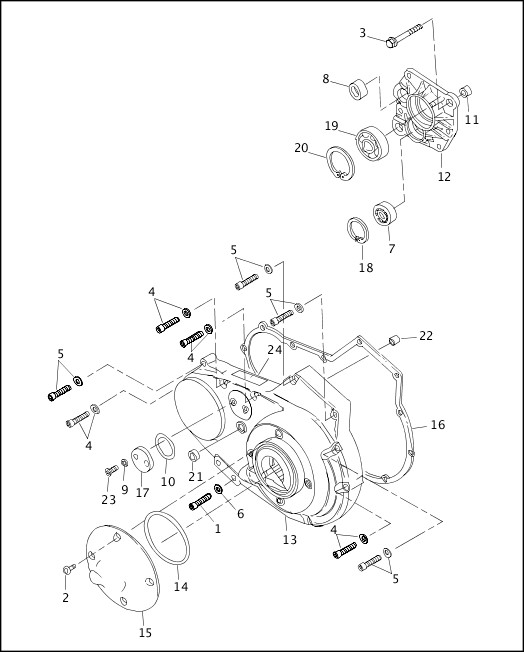 ACCESS DOOR & PRIMARY COVER 1999 Sportster Parts Catalog
