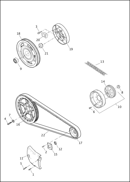 BELTS, CHAINS & SPROCKETS|2014 Sportster Models Parts Catalog