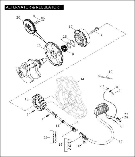 ALTERNATOR & REGULATOR|2006 VRXSE Parts Catalog