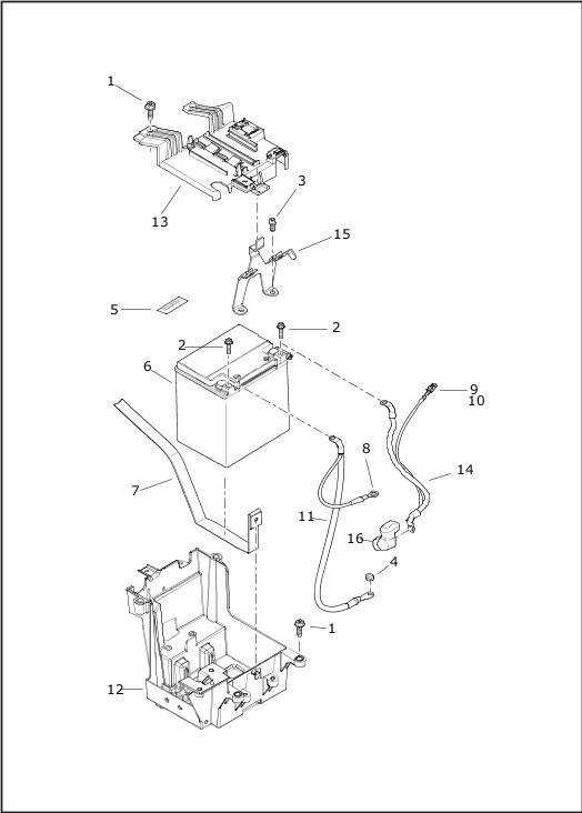 BATTERY|2019 Trike Models Parts Catalog