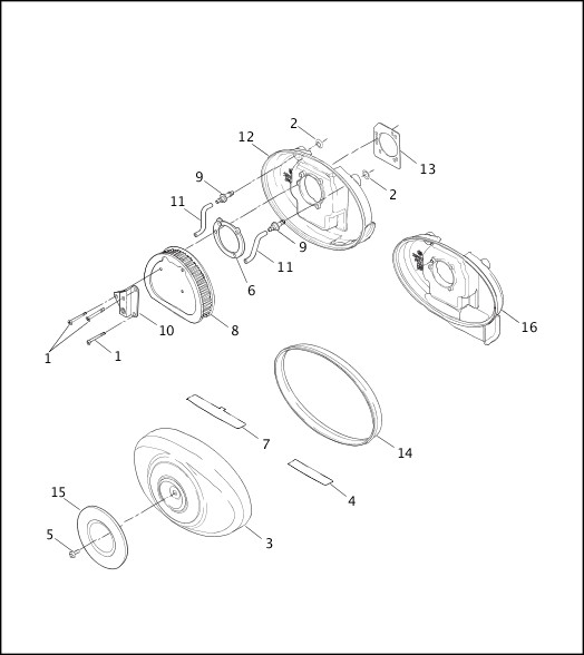 AIR CLEANER - FUEL INJECTED MODELS|2001 Softail Models Parts Catalog