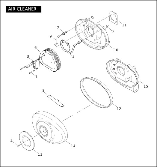 AIR CLEANER|2007 Softail Models Parts Catalog