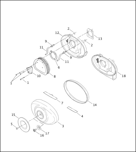 AIR CLEANER - FUEL INJECTED MODELS|2003 Softail Models Parts Catalog