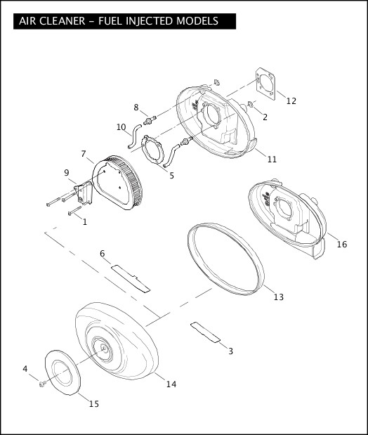 AIR CLEANER - FUEL INJECTED MODELS|2006 Softail Models Parts Catalog