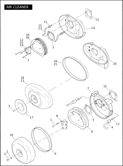 AIR CLEANER|2009 Softail Models Parts Catalog