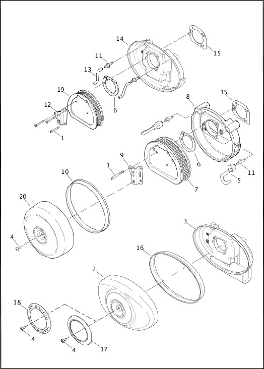 AIR CLEANER|2013 Softail Models Parts Catalog