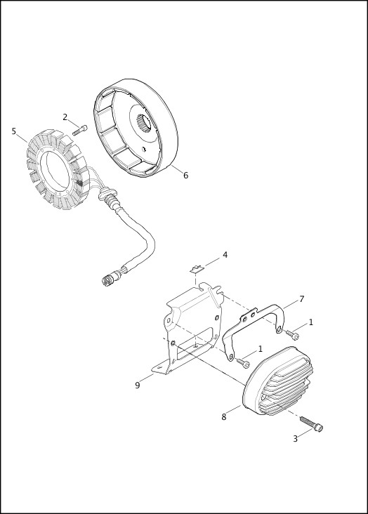 ALTERNATOR & REGULATOR|2013 Softail Models Parts Catalog