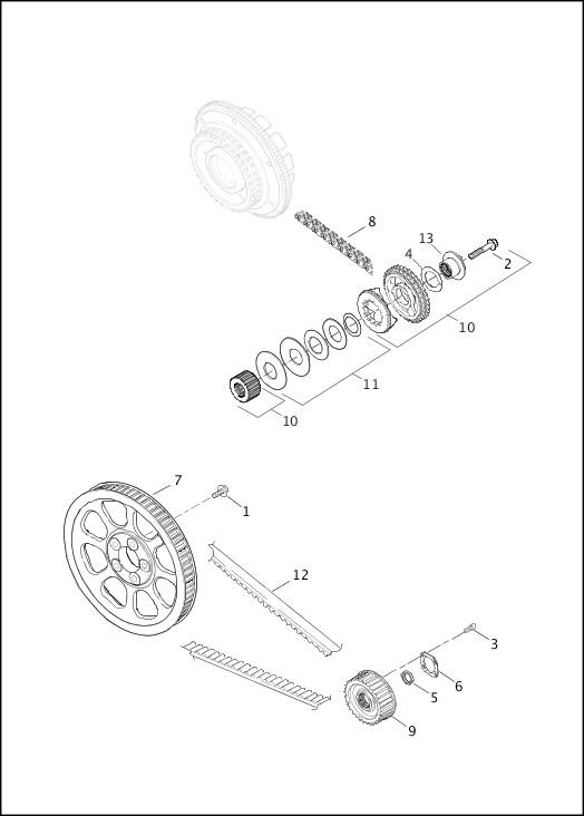 BELT, CHAINS & SPROCKETS|2013 Softail Models Parts Catalog