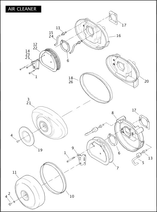 AIR CLEANER|2010 Softail Models Parts Catalog