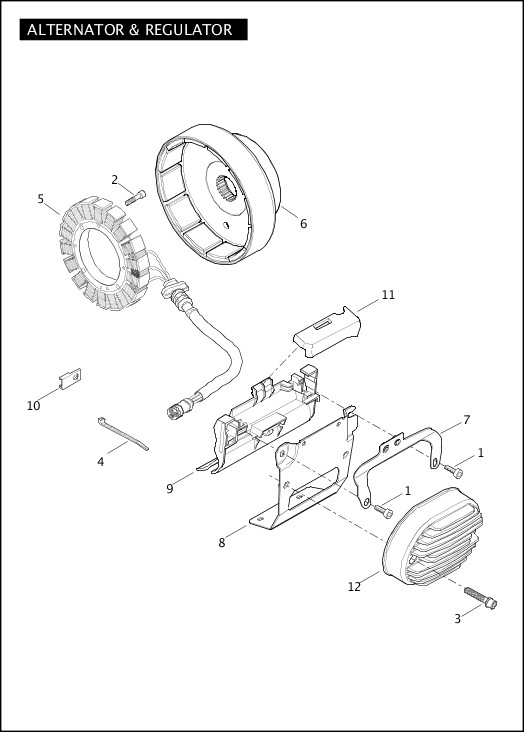 ALTERNATOR & REGULATOR|2011 Softail Models Parts Catalog