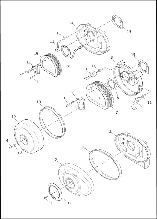 AIR CLEANER|2015 Softail Models Parts Catalog