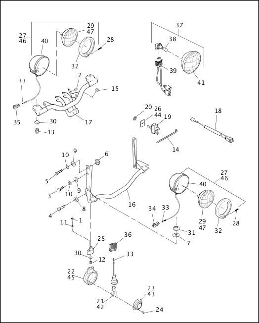 AUXILIARY/FOG LAMPS - FLSTC & FLSTS, FRONT TURN SIGNALS - FLSTC 1998 Softail Models Parts Catalog