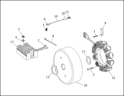 ALTERNATOR & REGULATOR|1997 Softail Models Parts Catalog