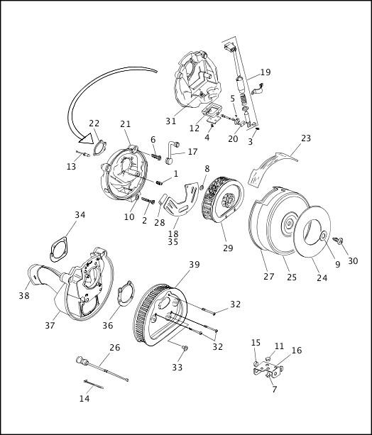 AIR CLEANER & ENRICHENER (2 OF 2)|1995-1996 Softail Models Parts Catalog