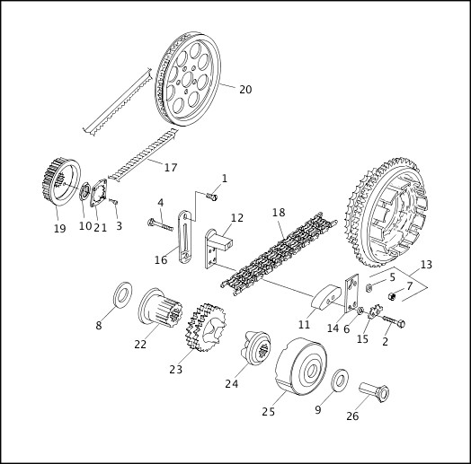BELTS, CHAINS & SPROCKETS|1995-1996 Softail Models Parts Catalog