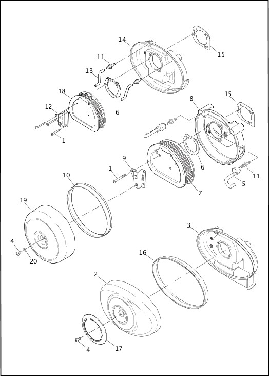 AIR CLEANER|2014 Softail Models Parts Catalog