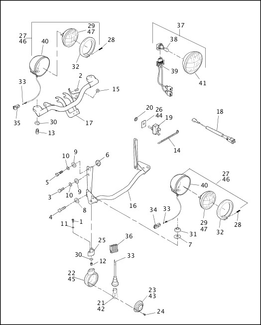 AUXILIARY/FOG LAMPS - FLSTC & FLSTS, FRONT TURN SIGNALS - FLSTC (2 OF 2)|1999 Softail Models Parts Catalog